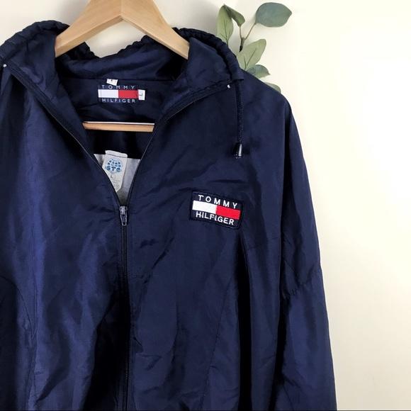 90e2e7aa Vintage Navy Tommy Hilfiger Windbreaker Jacket. M_5a7f86aea6e3eae53f342cc4